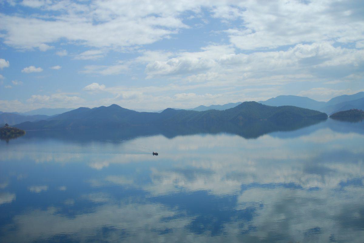 A view of Lugu Lake