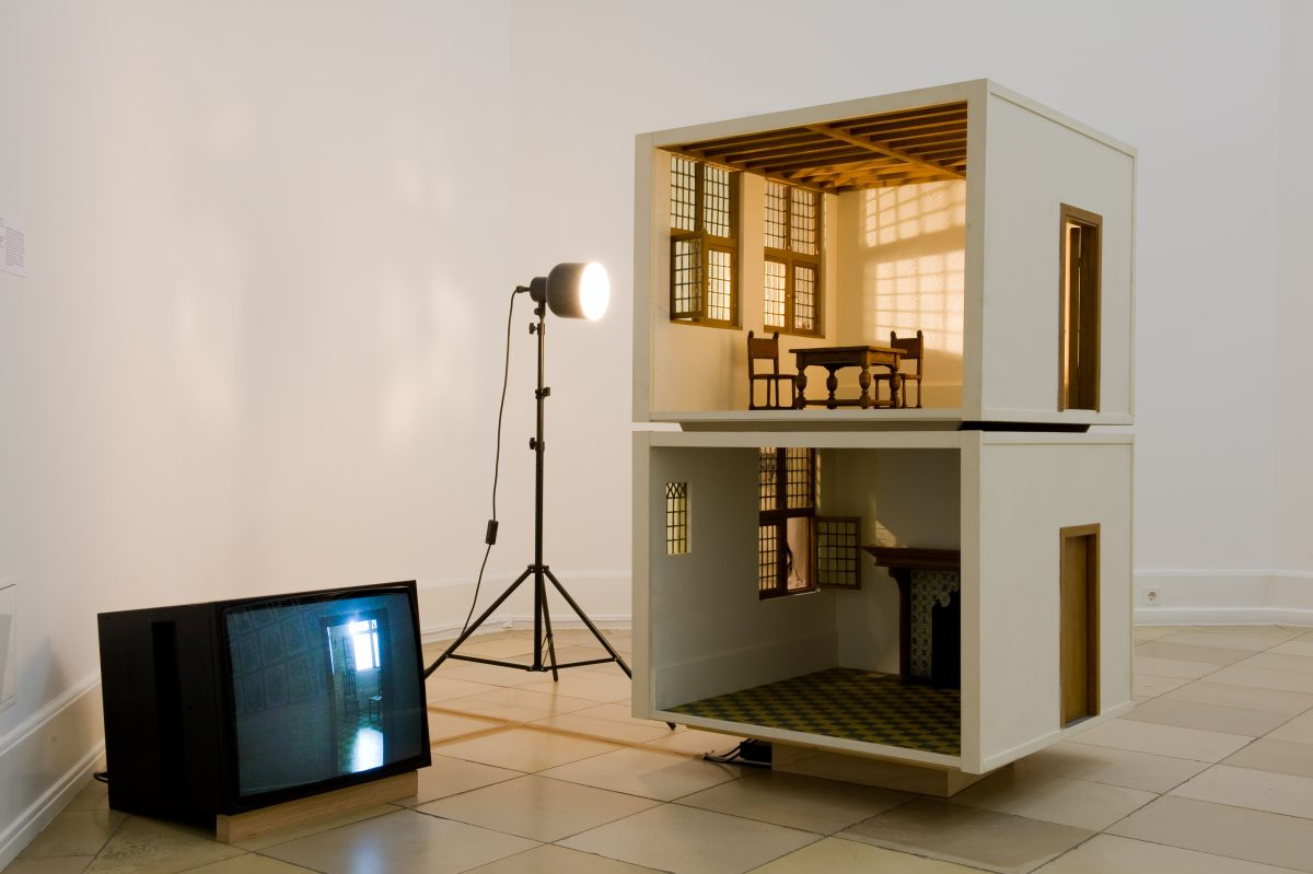 Small Scale Model of a Home (Vermeer Studio), installation view