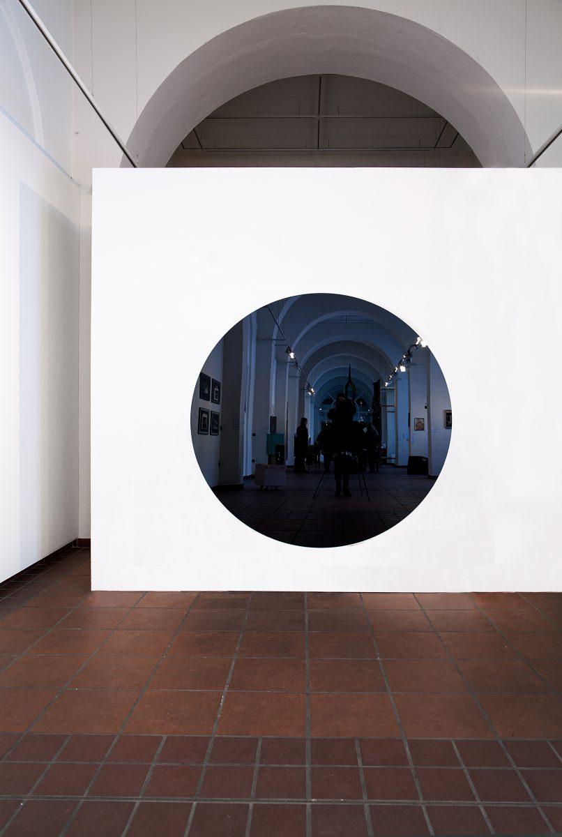 Black Hole, wall work, Galerie im Körnerpark