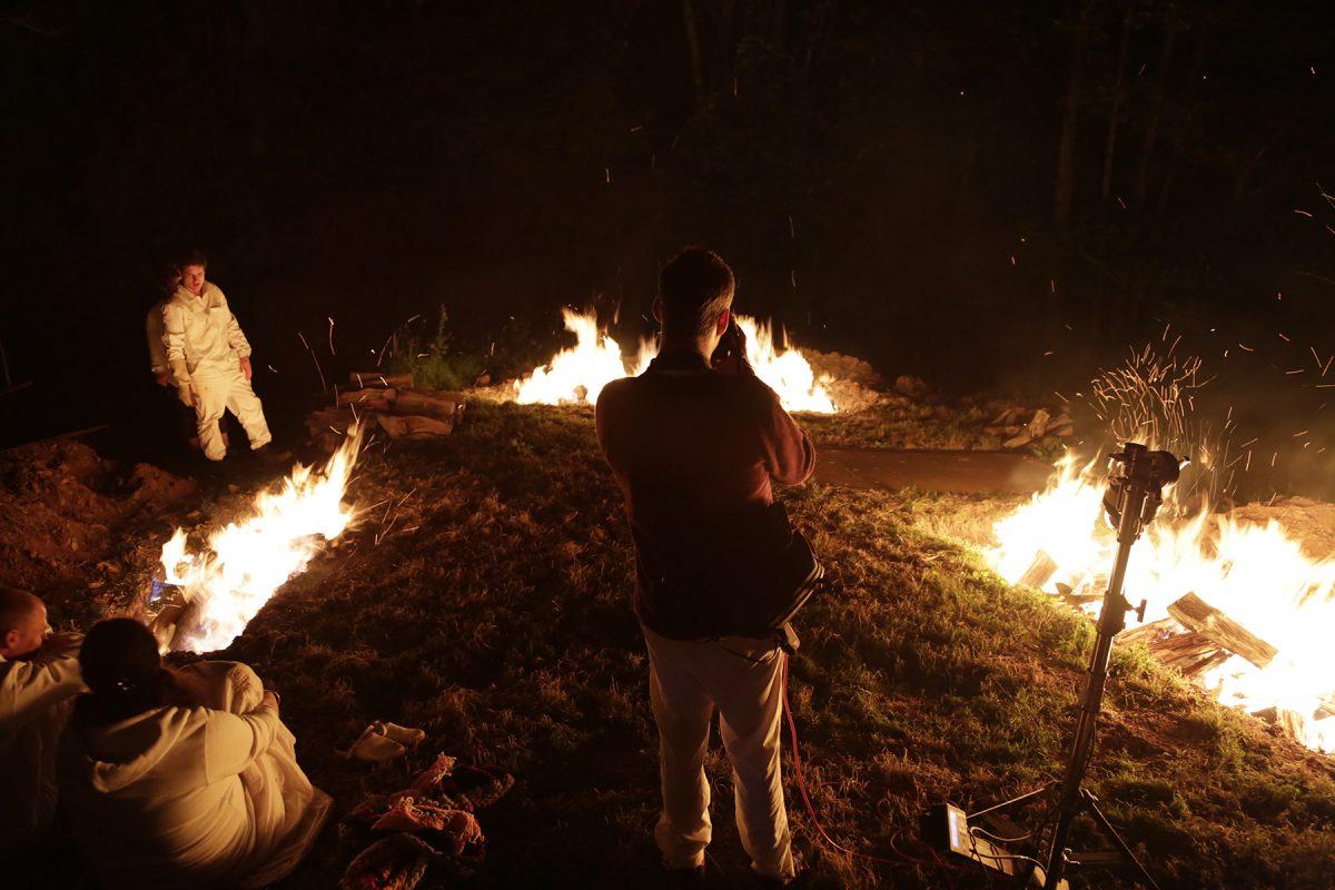 Pit fire