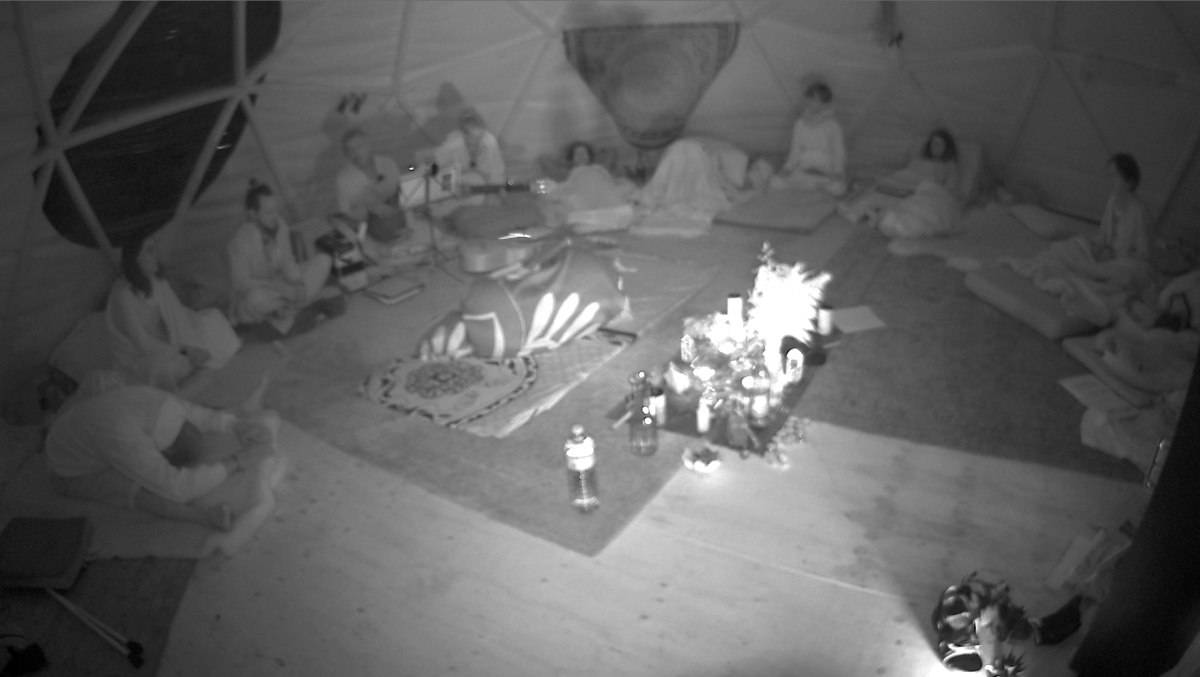Picture with infrared dome camera